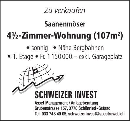 4½-Zimmer-Wohnung (107m²), Saanenmöser, zu verkaufen