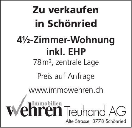 4½-Zimmer-Wohnung inkl. EHP, Schönried, zu verkaufen