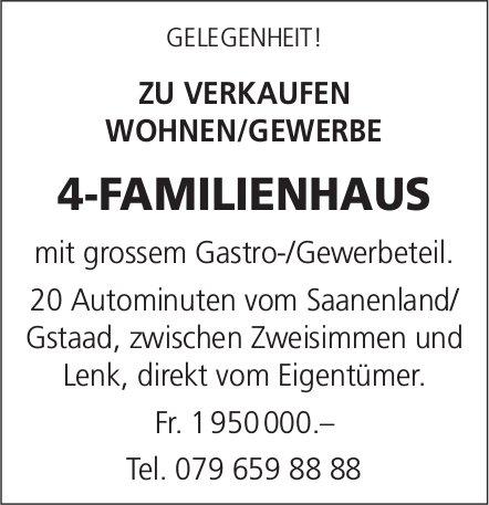 4-FAMILIENHAUS, zwischen Zweisimmen & Lenk, zu verkaufen