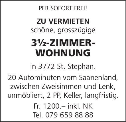 3.5-ZIMMER-WOHNUNG, St. Stephan, zu vermieten