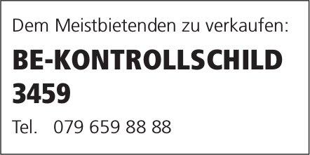 E-KONTROLLSCHILD 3459, dem Meistbietenden zu verkaufen