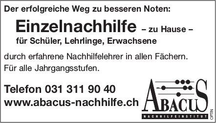 ABACUS Nachilfeinstitut - Der erfolgreiche Weg zu besseren Noten