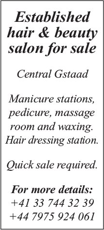 Established hair & beauty salon for sale, Central Gstaad
