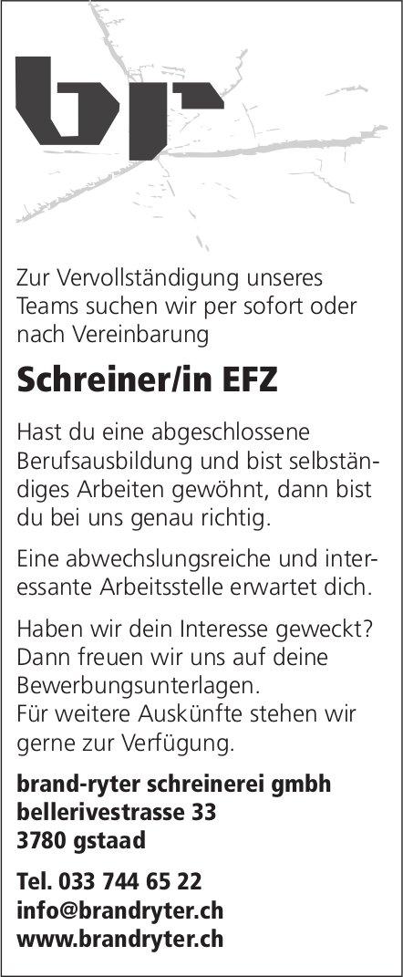 Schreiner/in EFZ, brand-ryter schreinerei gmbh, Gstaad, gesucht