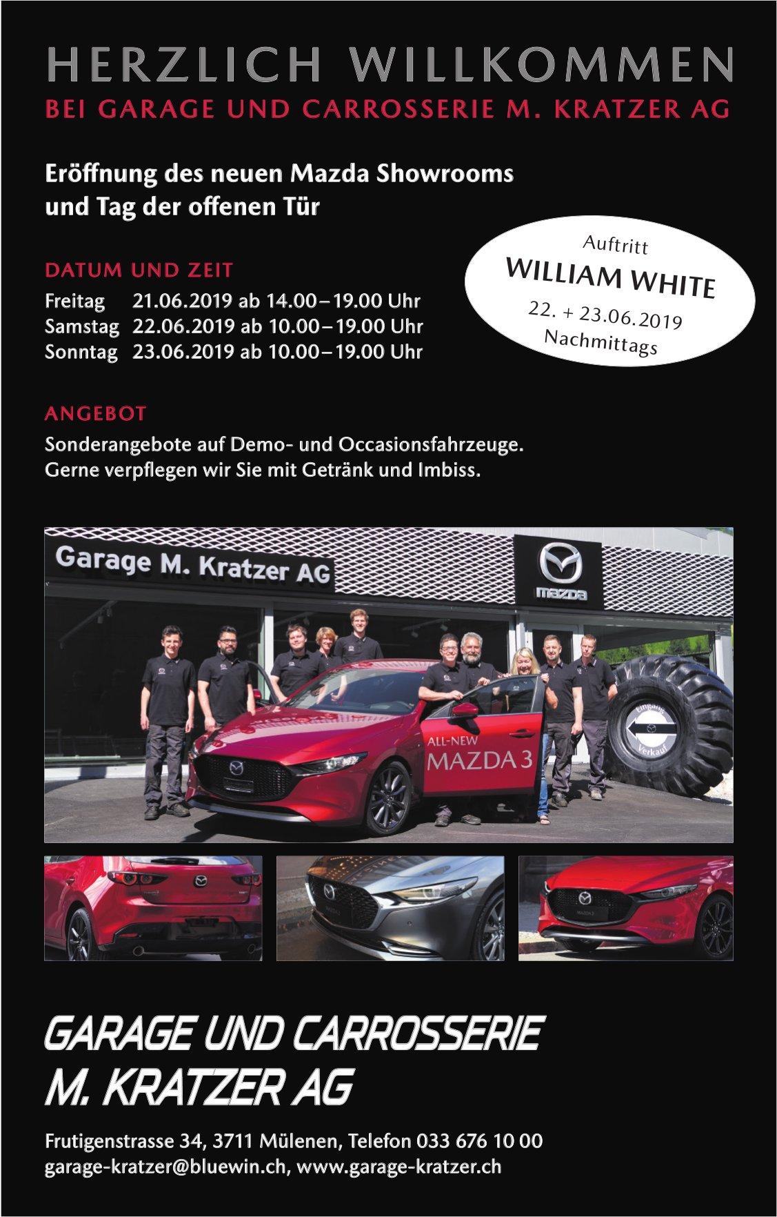 Eröffnung des neuen Mazda Showrooms und Tag der offenen Tür, 21. - 23. Juni, Garage Kratzer AG
