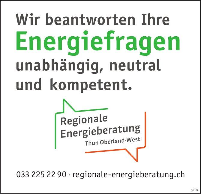 Regionale Energieberatung - Wir beantworten Ihre Energiefragen unabhängig, neutral und kompetent
