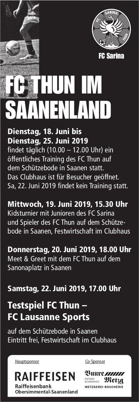 FC THUN IM SAANENLAND - 18. - 25. Juni