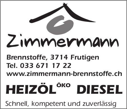 Zimmermann, Frutigen - HEIZÖL ÖKO DIESEL