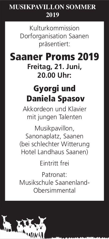 Saaner Proms 2019, Gyorgi und Daniela Spasov, 21. Juni, Musikpavillon, Sanonaplatz, Saanen