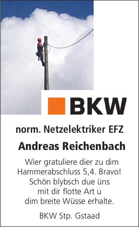 Andreas Reichenbach - Wier gratuliere dier zu dim Hammerabschluss 5,4. Bravo!