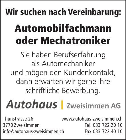 Automobilfachmann oder Mechatroniker, Autohaus Zweisimmen, gesucht