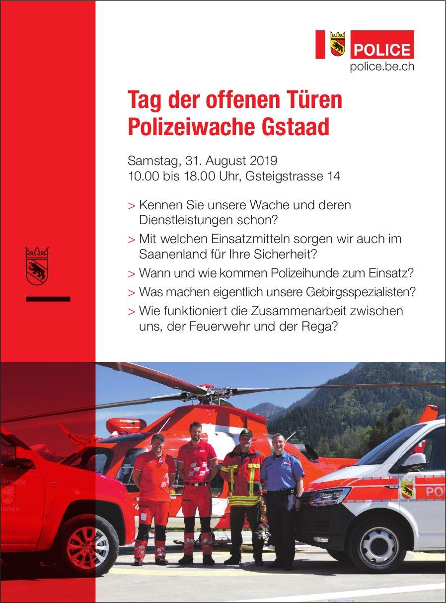 Tag der offenen Türen, 31. August, Polizeiwache Gstaad