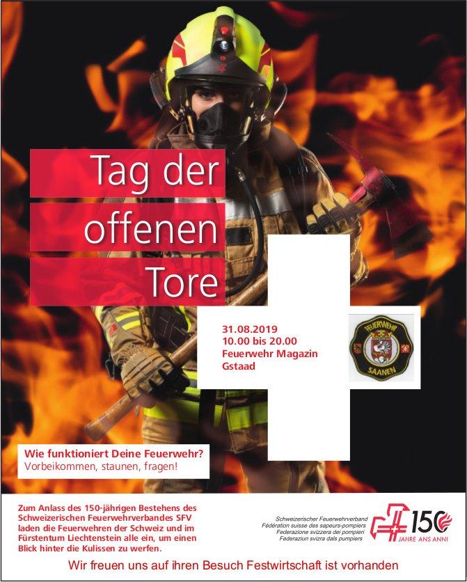 Tag der offenen Tore, 31. August, Feuerwehr Magazin, Gstaad
