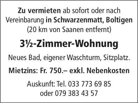 3.5-Zimmer-Wohnung, Boltigen, zu vermieten