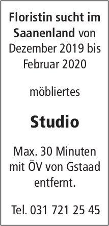 Studio, Umgebung Gstaad, gesucht