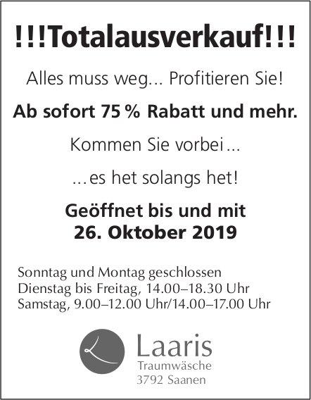 Laaris Traumwäsche, Saanen - !!!Totalausverkauf!!! bis 26. Oktober
