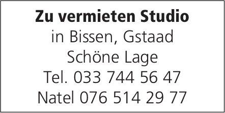 Studio, in Bissen, Gstaad, zu vermieten