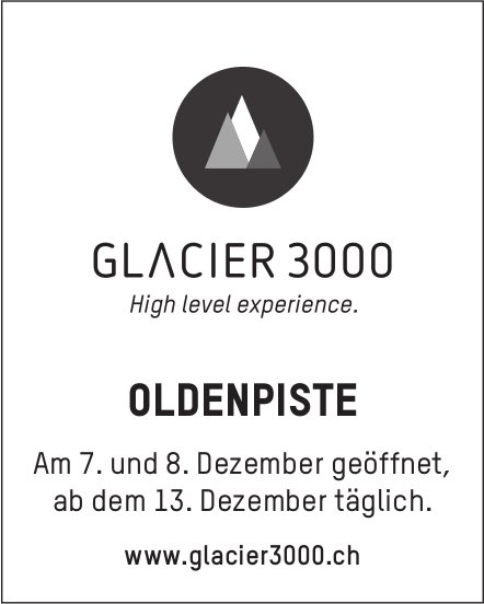 OLDENPISTE, 7./8. Dezember geöffnet & ab 13. Dezember täglich