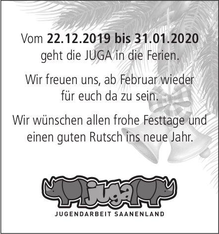 JUGA JUGENDARBEIT SAANENLAND - Ferien vom 22. Dezember - 31. Januar 2020