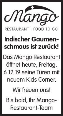 Mango-Restaurant - Indischer Gaumenschmaus ist zurück!
