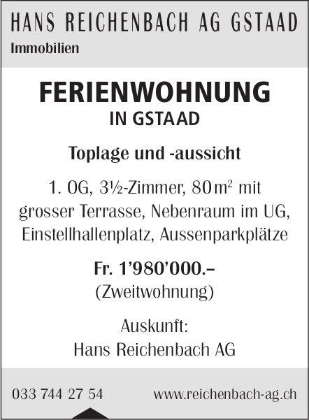 FERIENWOHNUNG, Gstaad, zu verkaufen