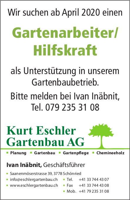 Gartenarbeiter/ Hilfskraft, Kurt Eschler Gartenbau AG,  Schönried, Gesucht
