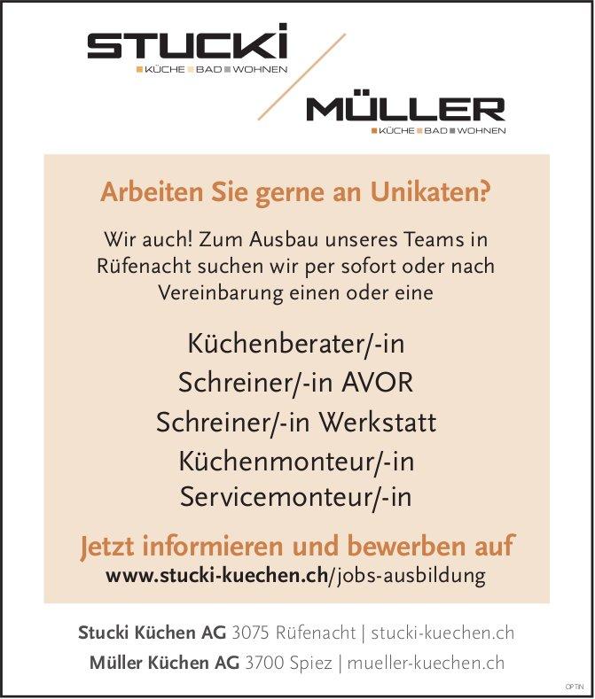 Küchenberater/In, Schreiner/In AVOR + Werkstatt, Küchen- und Servicemonteur/In, gesucht
