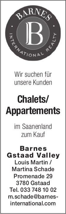 Chalets / Appartements, Saanenland, zu kaufen gesucht