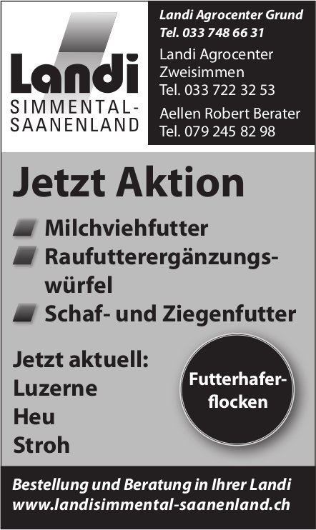 Landi Simmental-Saanenland, Jetzt Aktion