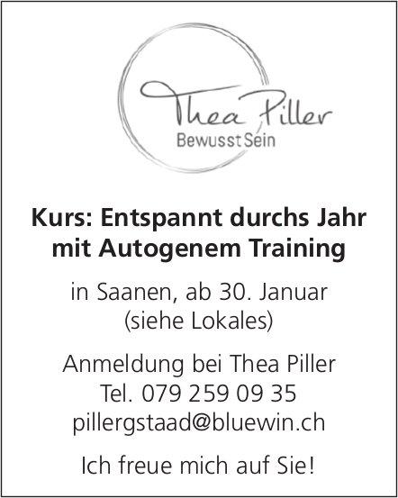 Thea Piller, Saanen - Kurs: Entspannt durchs Jahr mit Autogenem Training