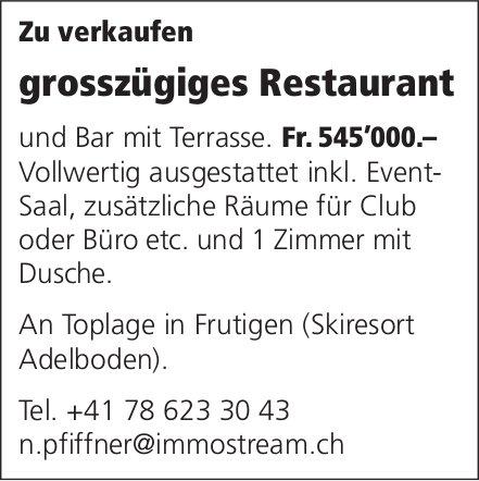 Grosszügiges Restaurant, Frutigen, zu verkaufen