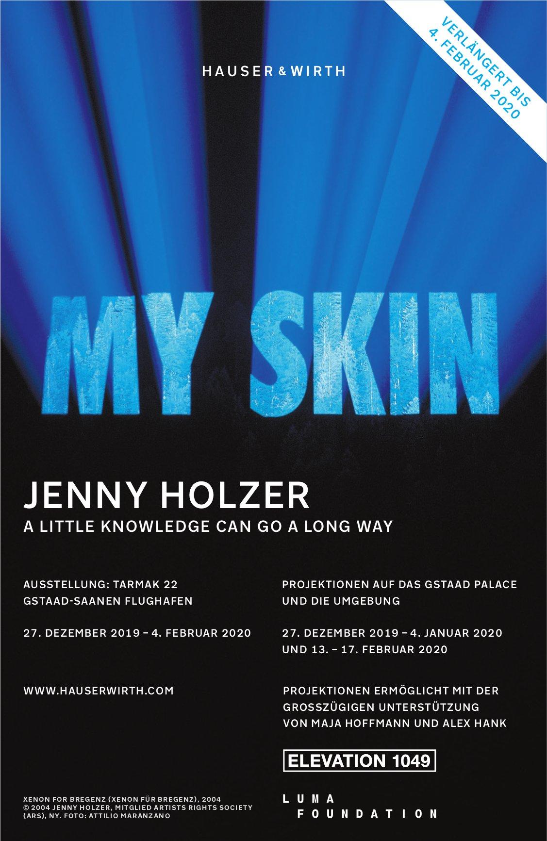 MY SKIN,  JENNY HOLZER, BIS 4. FEBRUAR, AUSSTELLUNG TARMAK 22,  FLUGHAFEN GSTAAD SAANEN