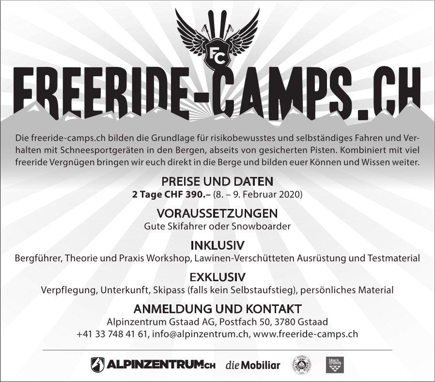 FREERIDE-CAMPS.CH, 8. + 9. Februar, Alpinzentrum Gstaad AG, Gstaad