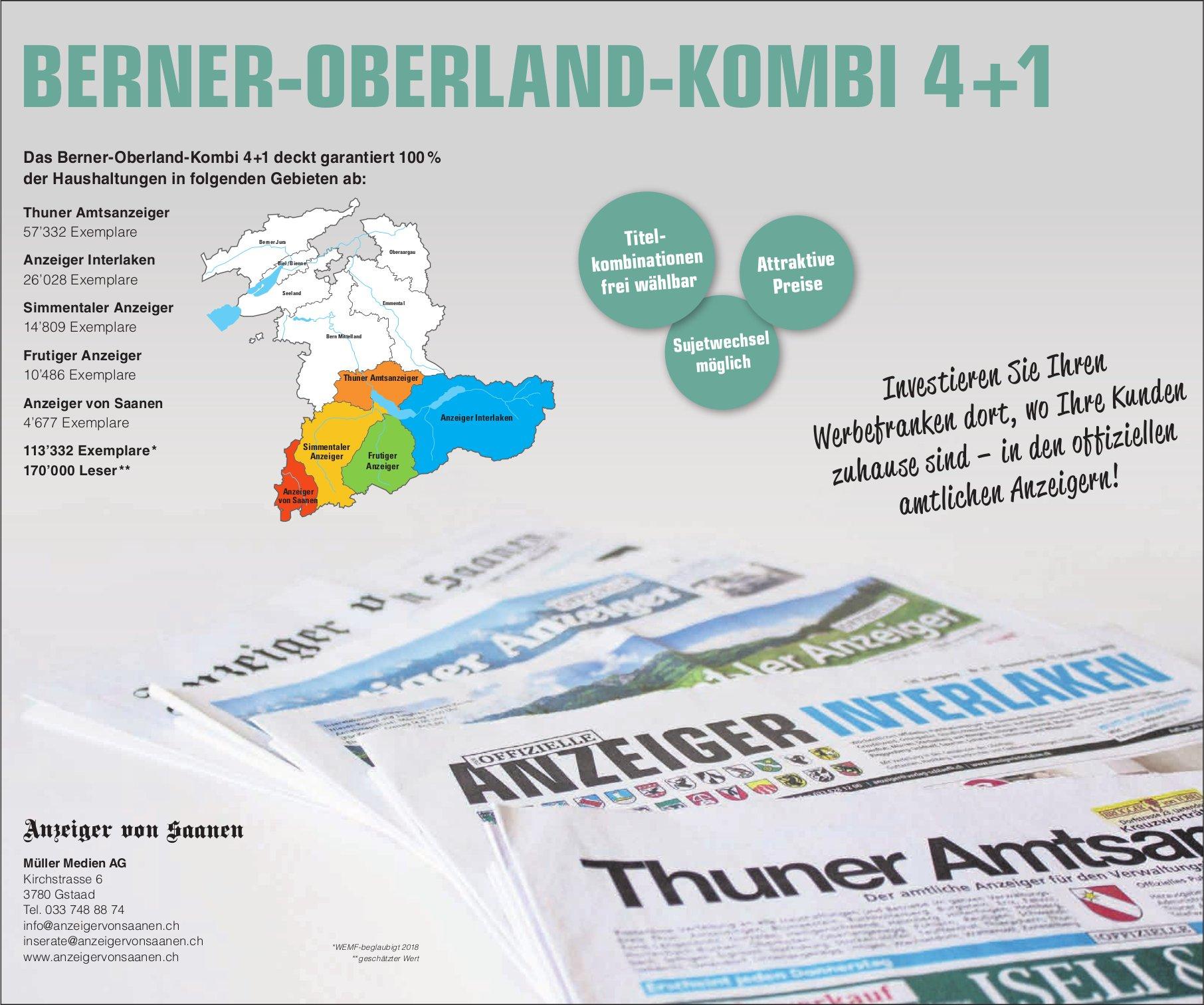BERNER-OBERLAND-KOMBI 4+1