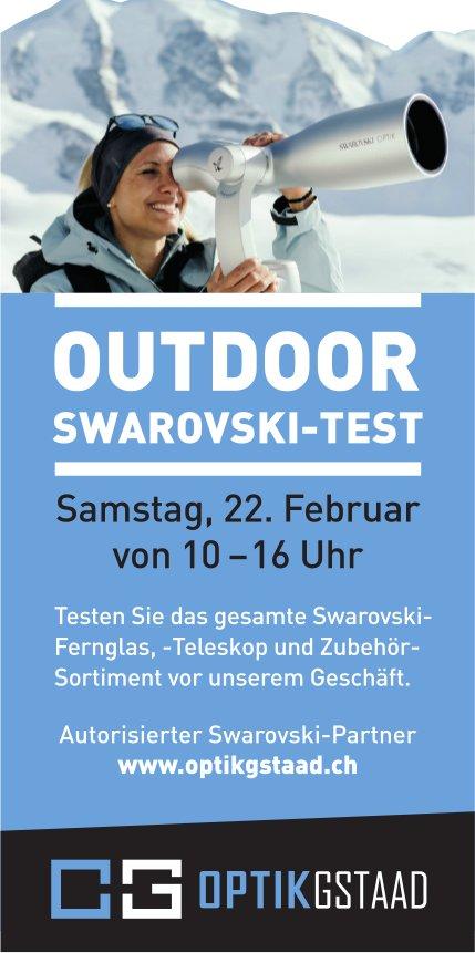 OUTDOOR SWAROVSKI-TEST, 22. Februar, OPTIK GSTAAD, Gstaad