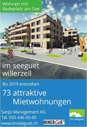 73 attraktive Mietwohnungen im seeguet willerzell