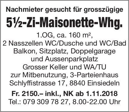 5½-Zi-Maisonette-Whg., Einsiedeln, zu vermieten