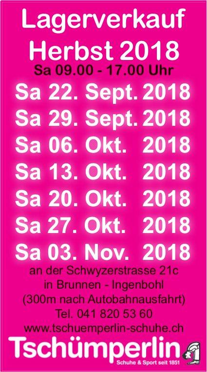 Lagerverkauf Herbst, Tschümperlin Schuhe