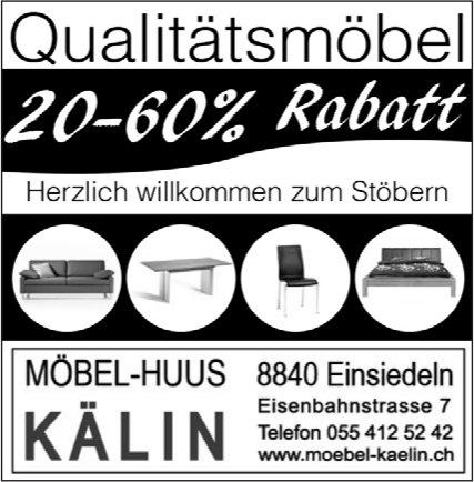 20-60% Rabatt, Möbel-Huus Kälin