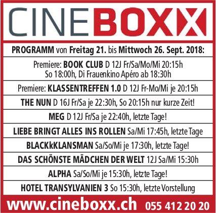 Cineboxx, 21. - 26. Sept.