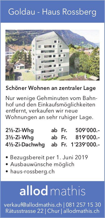 2½-, 3½-Zi-Whg & 4½-Zi-Dachwhg, Goldau - Haus Rossberg, zu verkaufen