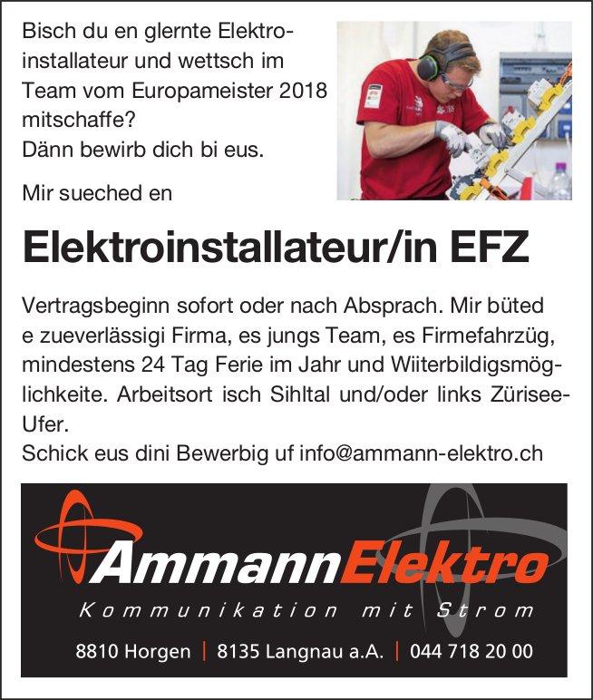 Elektroinstallateur/in EFZ, Ammann Elektro