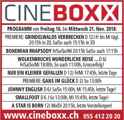Cineboxx, 16. - 21. Nov.