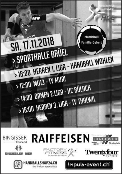 Spielplan HCE, 17. Nov., Sporthalle Brüel