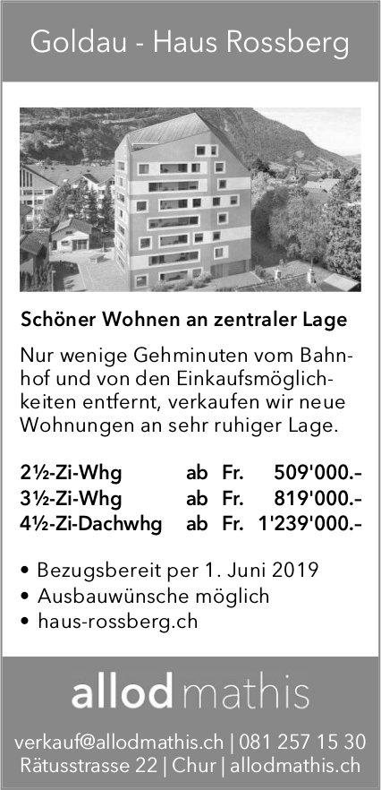 2½-, 3½-Zi-Whg, 4½-Zi-Dachwhg, Goldau, zu verkaufen