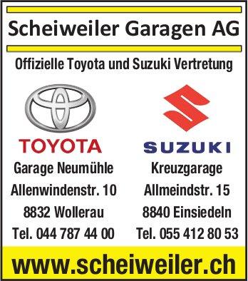 Scheiweiler Garagen AG, Offizielle Toyota und Suzuki Vertretung