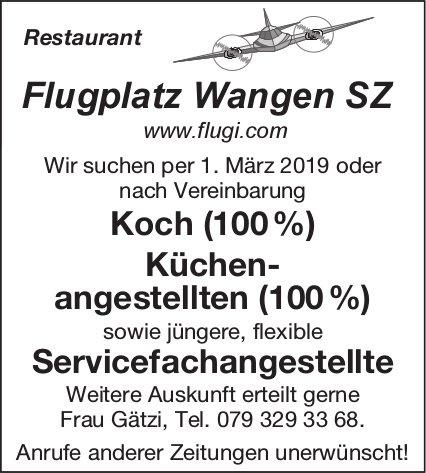 Koch / Küchenangestellte / Servicefachangestellte, Restaurant Flugplatz Wangen SZ