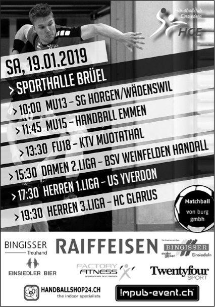 Spielplan HCE, 19. Jan., Sporthalle Brüel