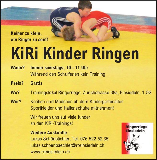 KiRi Kinder Ringen immer samstags, Trainingslokal Ringerriege