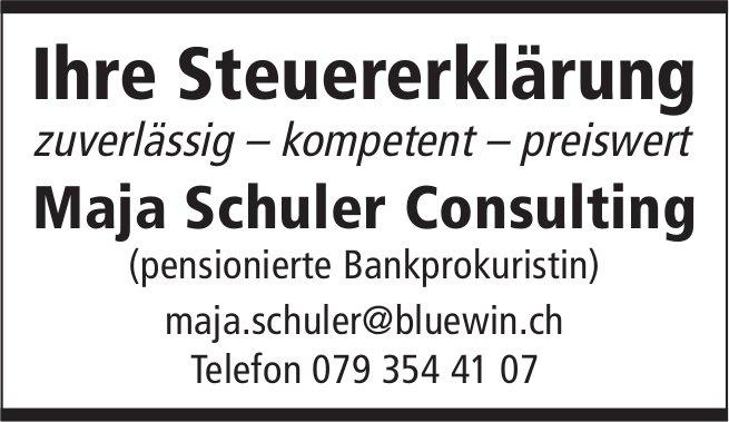 Ihre Steuererklärung, Maja Schuler Consulting